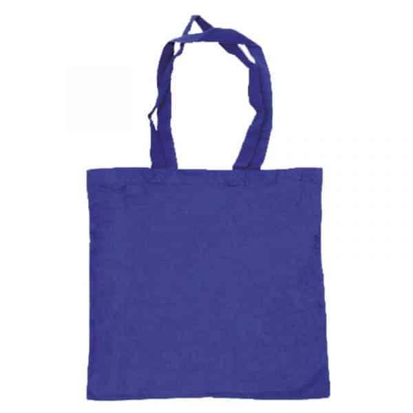 bolsa algodon colores azuloscuro