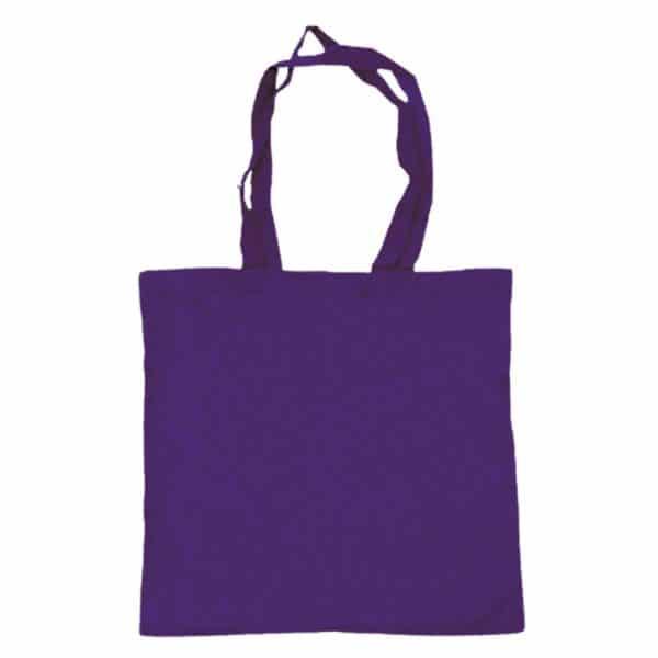 bolsa algodon colores morado