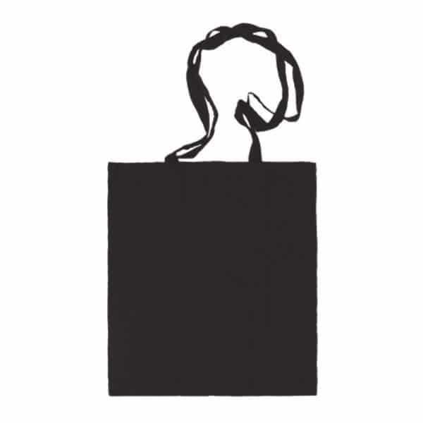 bolsa algodon colores negro