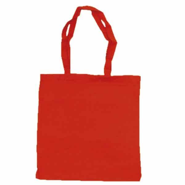 bolsa algodon colores rojo